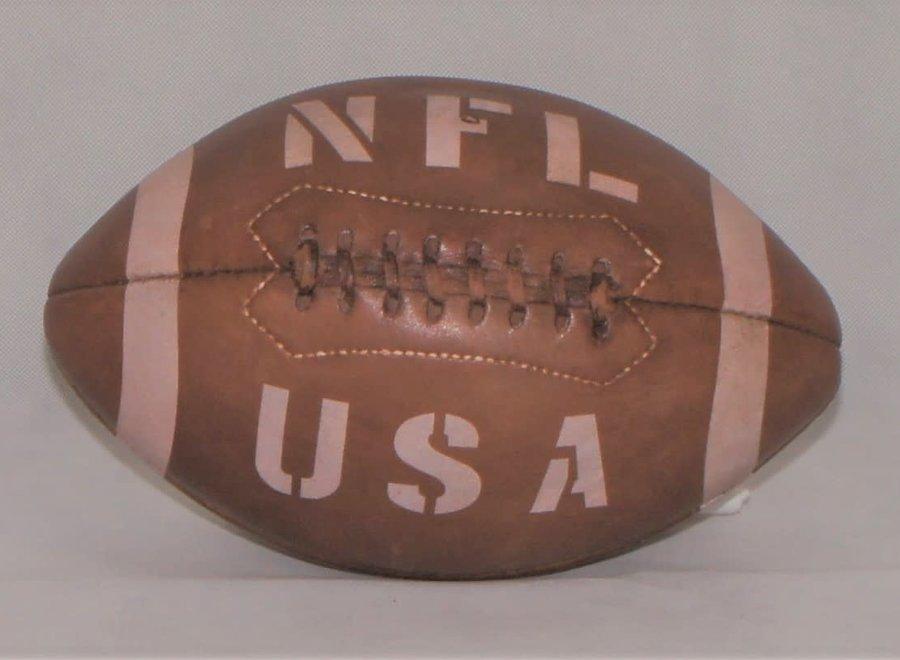 Leather National Football League football