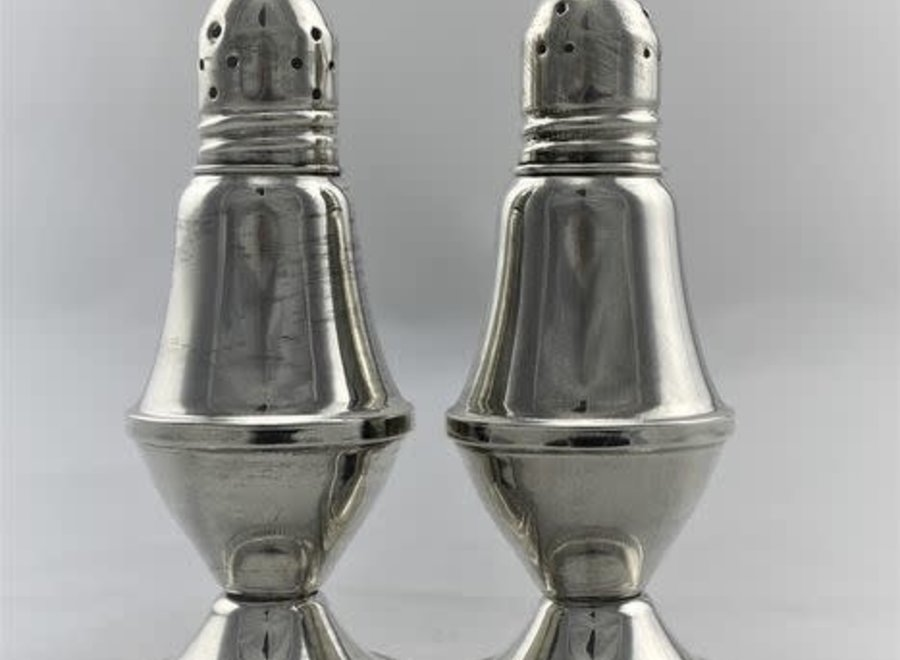 Salt and pepper shaker set - .925 silver - USA - Mid 20 ° Century