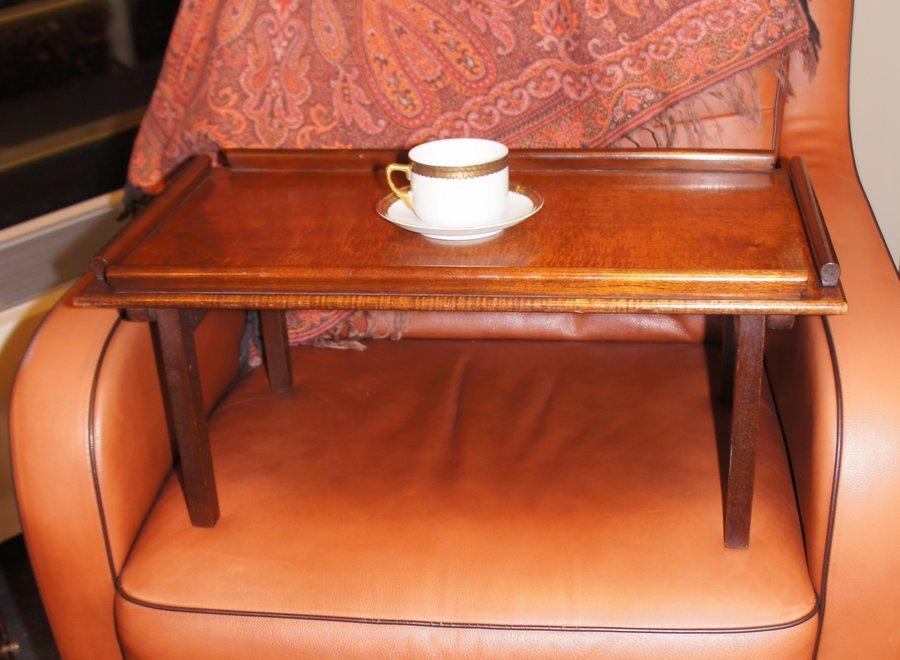 Mahogany tray for breakfast in bed