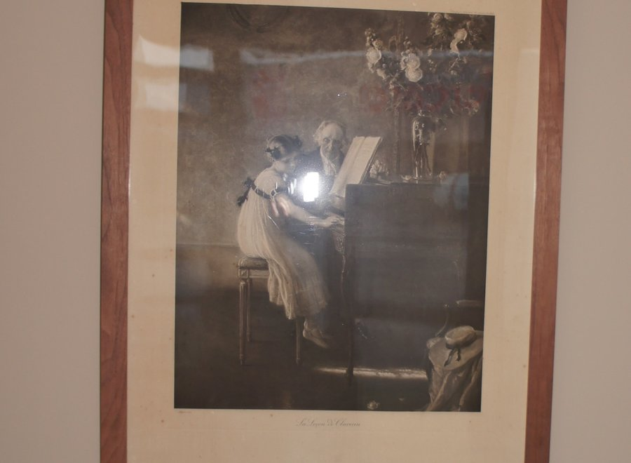 Chalcografie van de ets van Jules-Alexis Muenier (1863-1942)