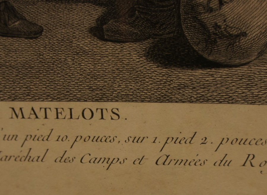 """Les Amusements des Matelots"" P. Chenu Sculp."