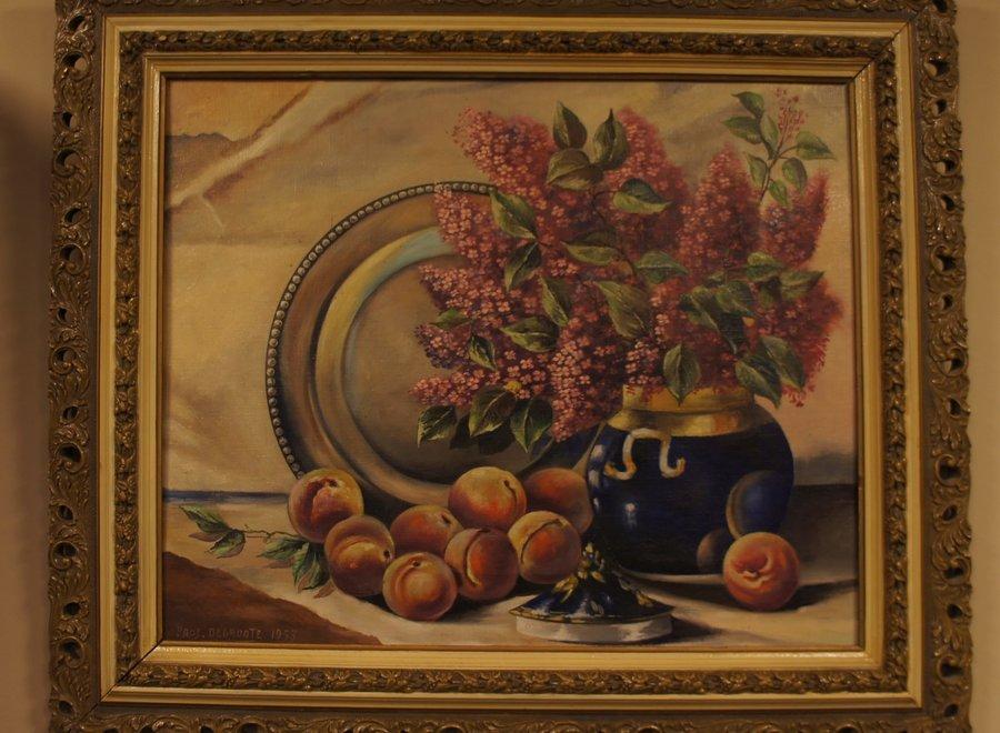 Schilderij stilleven  - Pros. Degroote - 1953