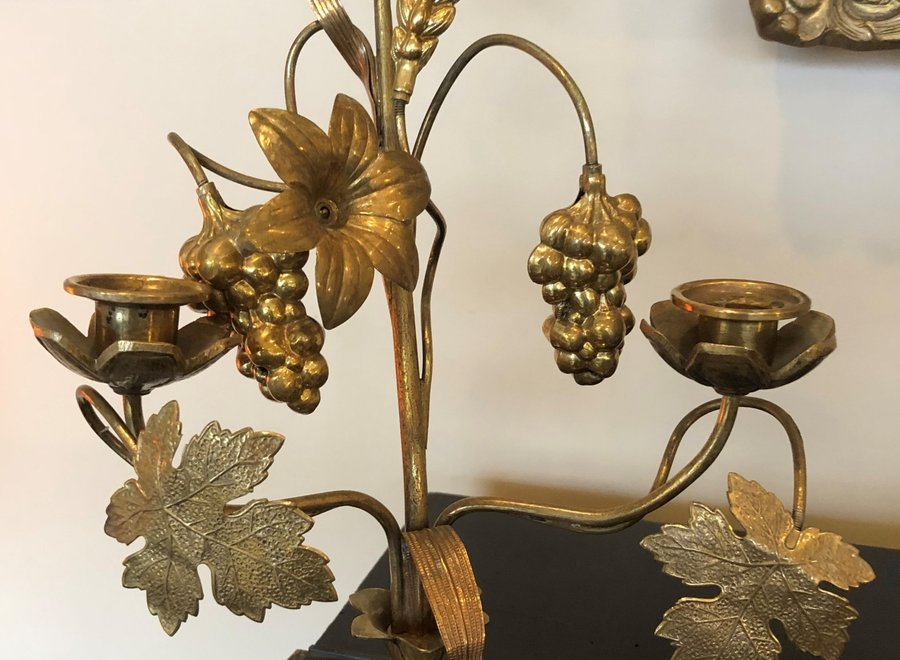 Beautiful decorative  candlestick - France - Early 20 ° Century