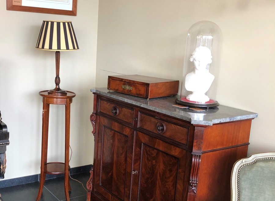 Mahogany sideboard with marble tablet