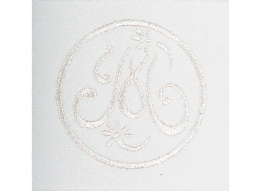 """Mathilde M"" bath towel Broderie - white - 70 x 140 cm"