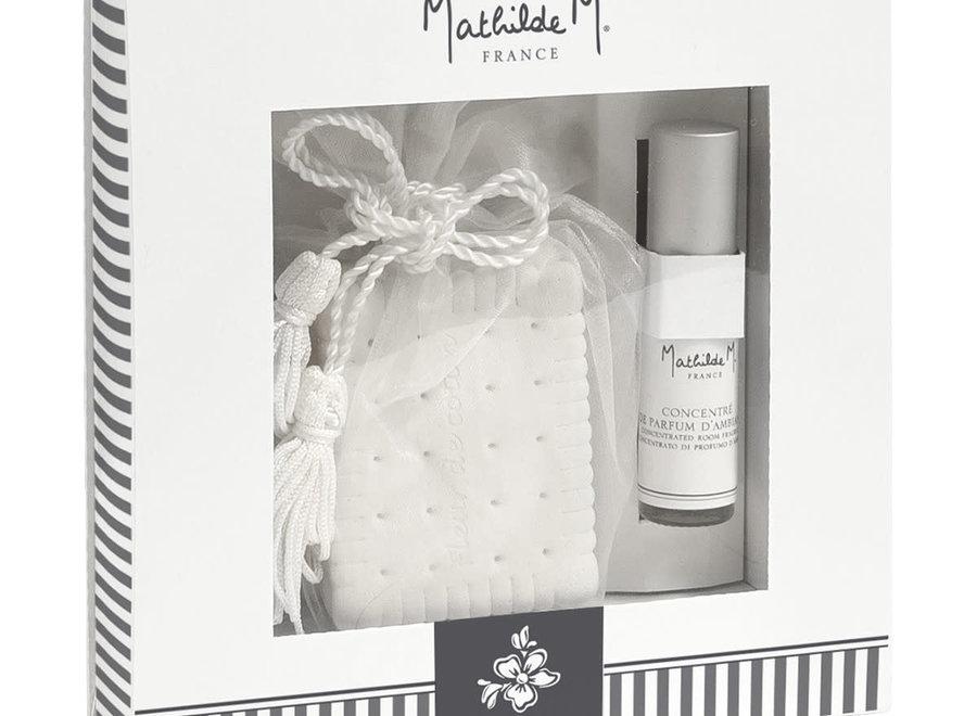Les Intemporels geschenkset met geurdecoraties - Fleur de coton