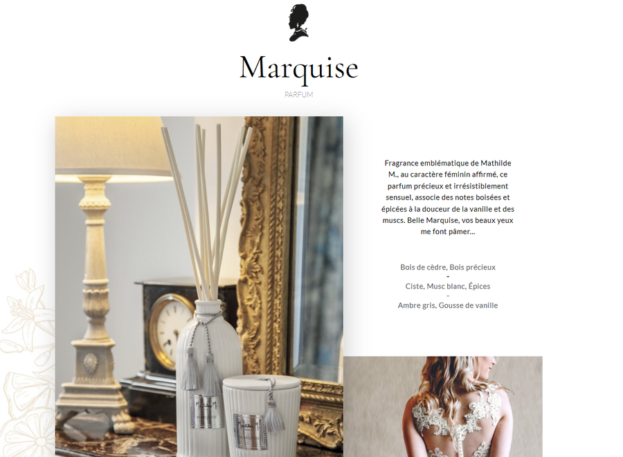 """Mathilde M"" linen scent 75 ml  - Marquise"