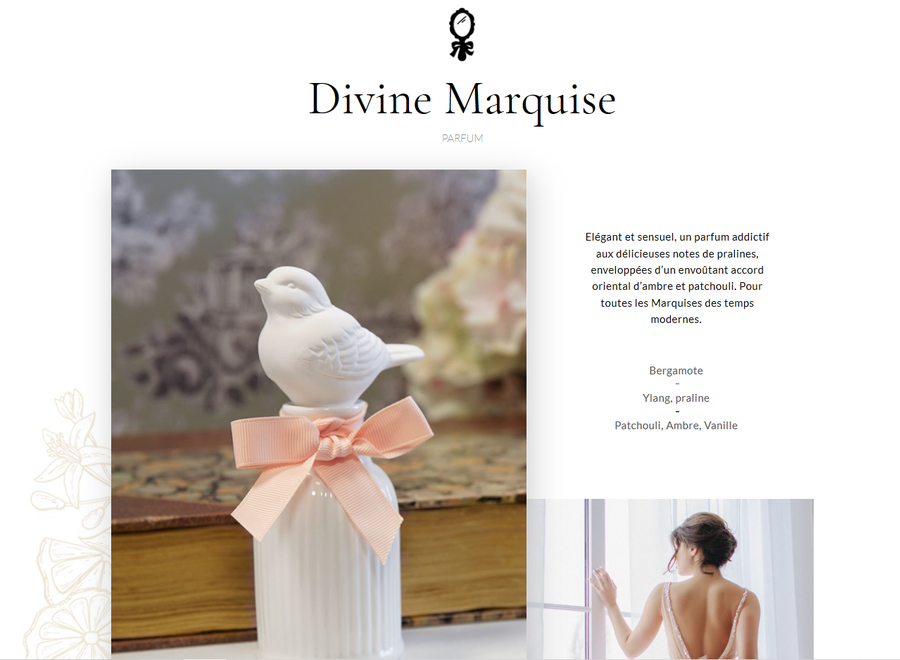 """Mathilde M"" Navulling voor huisparfum 500 ml - Divine Marquise"