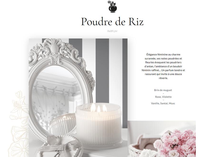 """""""Mathilde M"""" Navulling voor huisparfum 500 ml - Poudre de riz"""