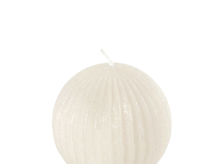 Round ribbed candle