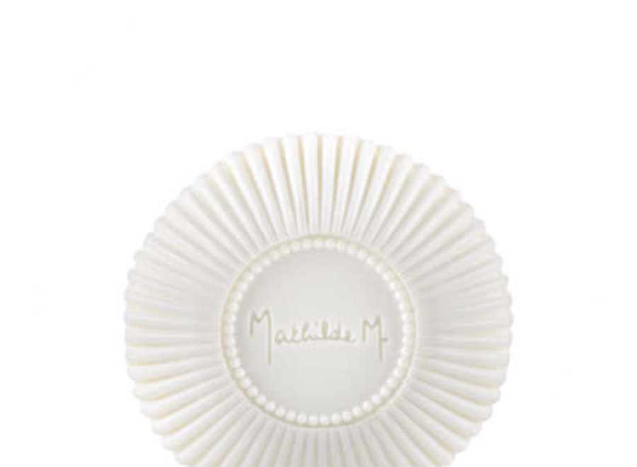 """""""Mathilde M"""" Scented round ribbed soap - Marquise"""
