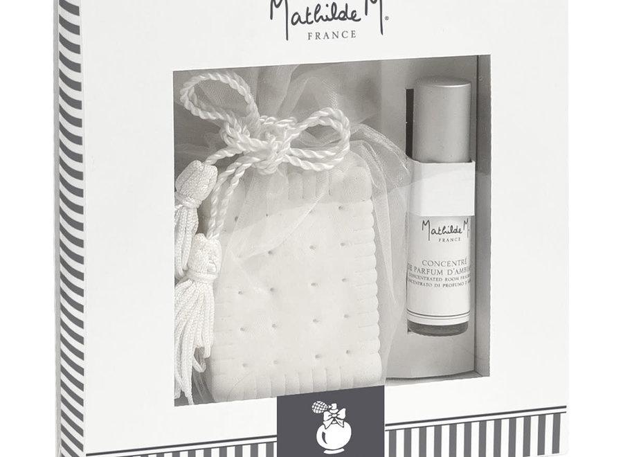 """Mathilde M"" wardrobe fragrance giftbox - Poudre de riz"
