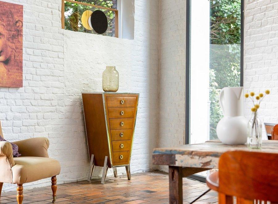 Ladenkast met 6 lades in Art deco - stijl