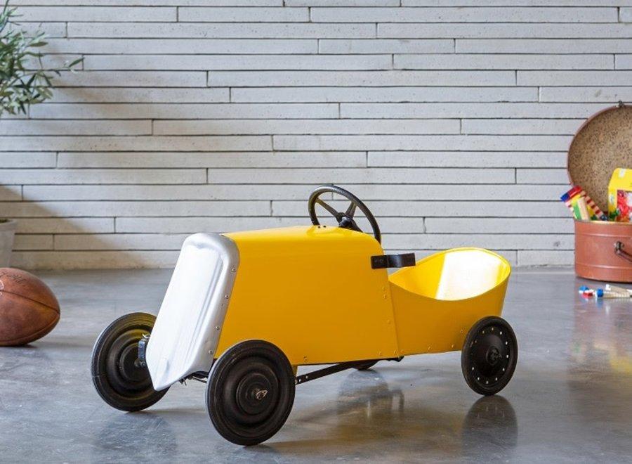 Bright yellow (children's) sports car