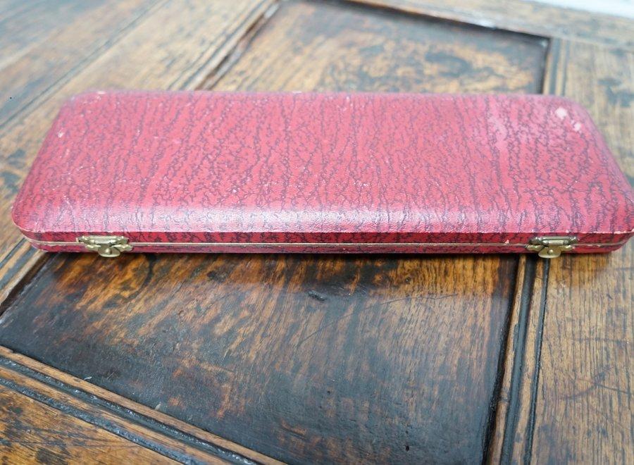 Serveerset: vismes en -vork - Edwardiaans verzilverd - Harrison Fisher