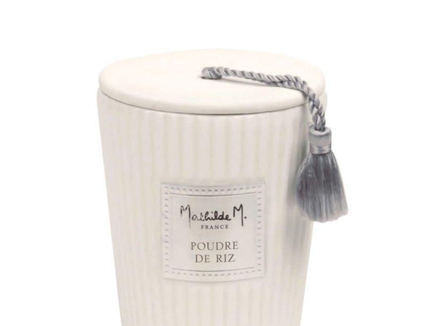 """Mathilde M"" geurkaars 260 g - Poudre de riz"