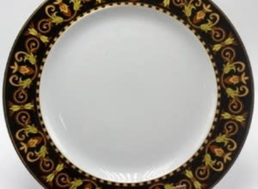"""Versace set """"Barocco"""" consists of 2 plates, a coffee cup and saucer"""