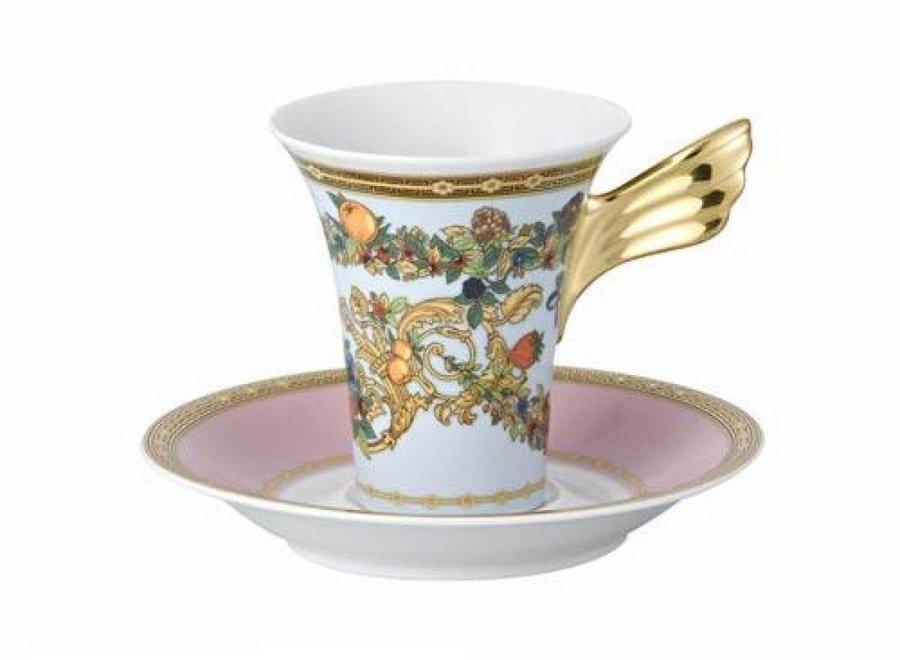 """Versace set """"Le Jardin de Versace"""" bestaat uit 2 borden, een koffiekop en schotel"""