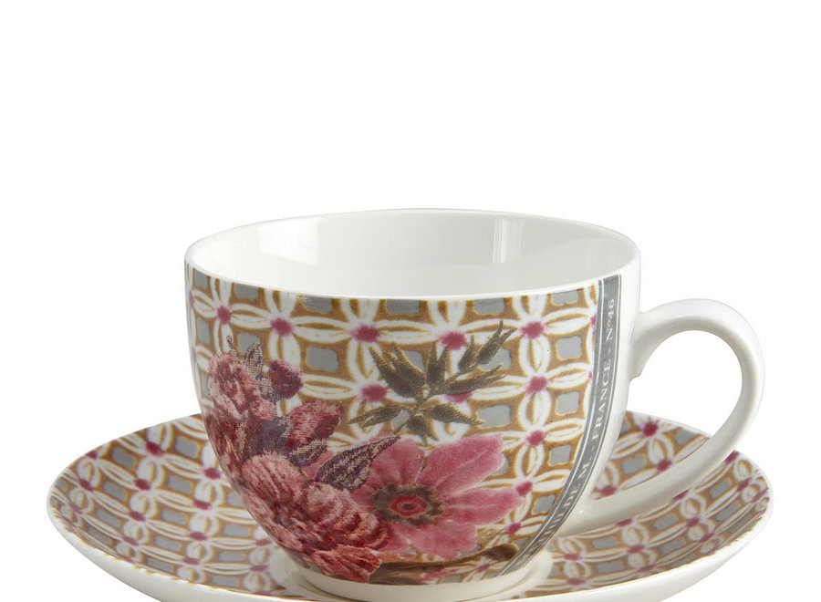 Gift box with 2 Madame de Montespan tea cups and saucers