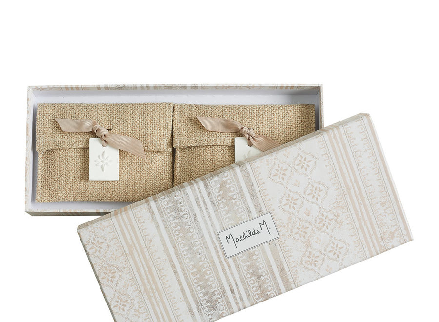 Gift box with 2 fragrance sachets Palazzo Bello - Figuier Dolce