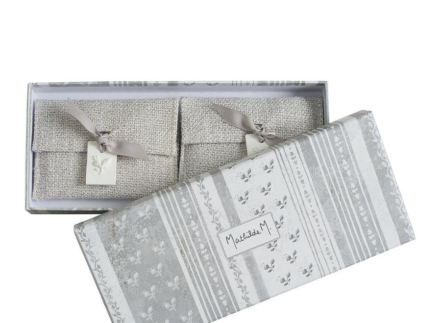 Gift box with 2 fragrance sachets Palazzo Bello - Fleur de coton