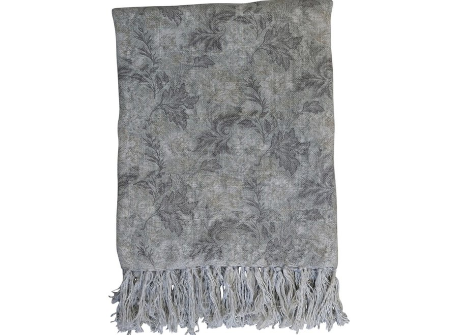 Throw with French floral print