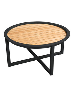 Beach7 QUEENS LOUNGETAFEL Alu/TEAK Ø 75CM