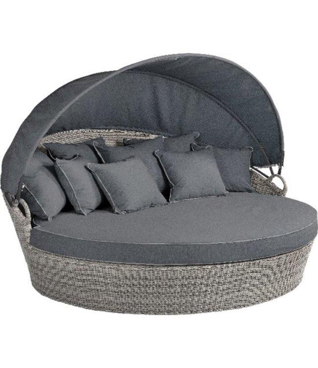 Beach7 Coobowie loungebed  wicker Multi Grey voor 2 personen