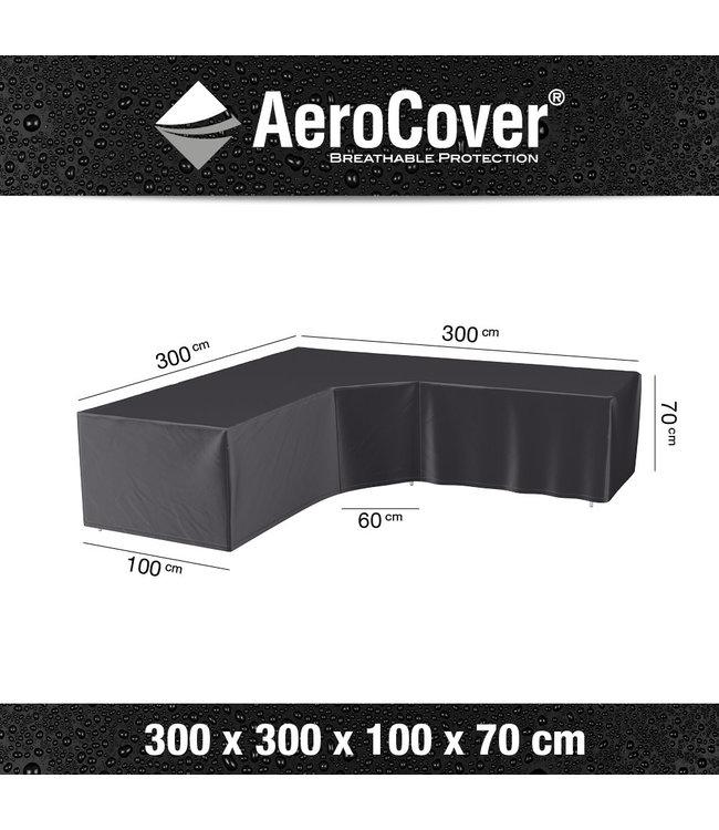 Aerocover loungesethoes hoek L-Vorm 300x300x100x70 cm