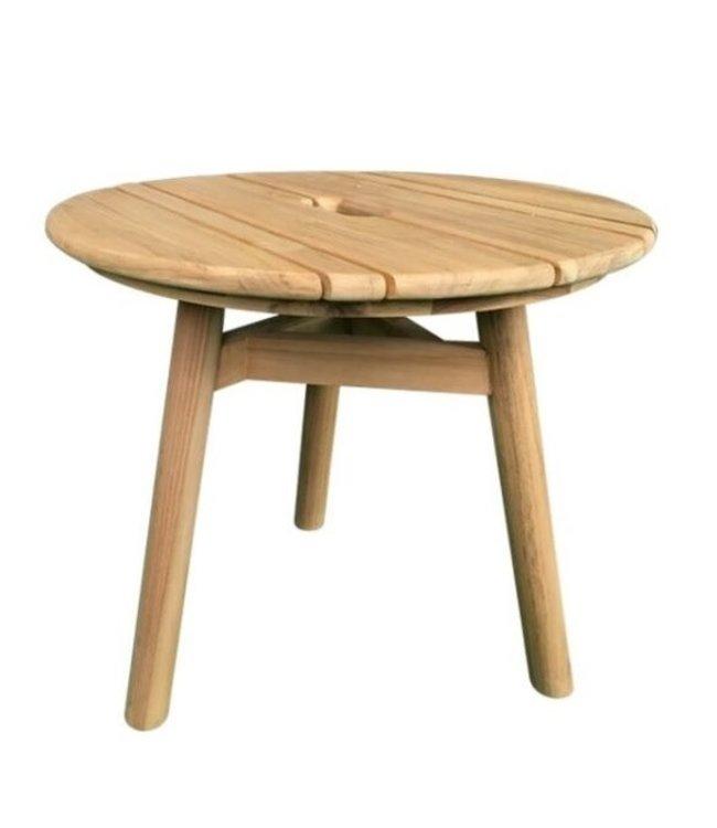 Guiño Taburete Coffee table teak ROUND 50x45cm
