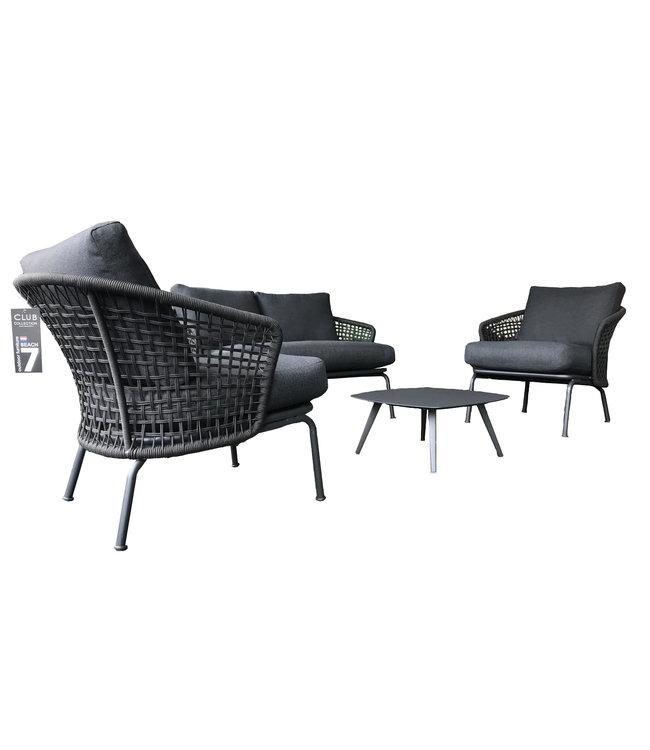 Beach7 Lattice 5-delig lounge set dark grey