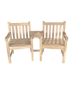 Beach7 Cozy Twin Java stoel teak