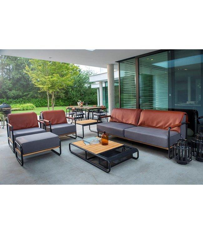 Guiño Primavera 5-Delige  loungeset zwart met sunbrella kussens