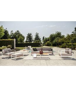 Guiño Primavera 5-Delige loungeset wit met sunbrella kussens
