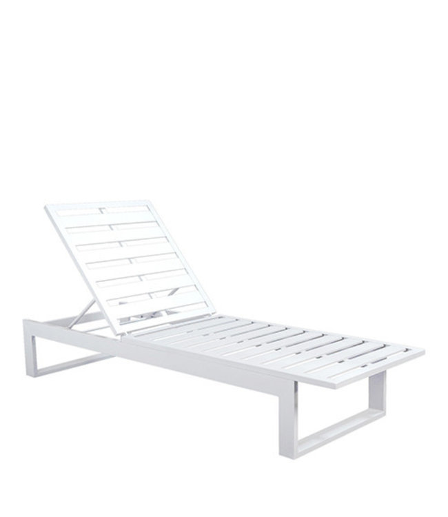 Beach7 Scaloppino Lounger wit pearl grey kussen