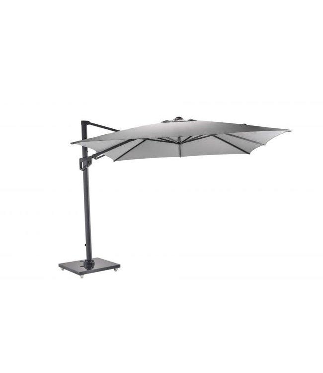 Jardinico Zaragoza parasol 300x300cm antraciet frame novasum rook grijs PA000888