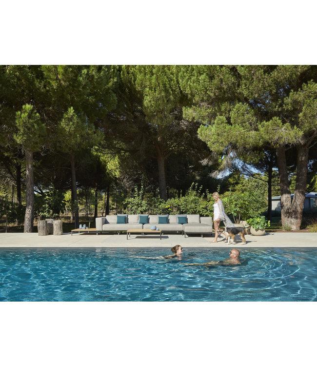 Jardinico Mauroo 4-delige Loungeset Antraciet 185x535cm Aluminium-Teak