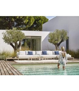 Jardinico Mauroo 4-delige Loungeset Wit 185x535cm Aluminium-Teak