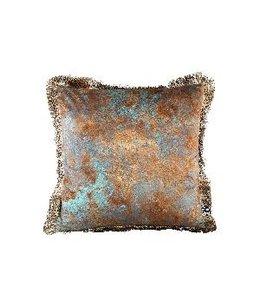 PTMD Rusty Gold velvet sierkussen 45 x 45 cm