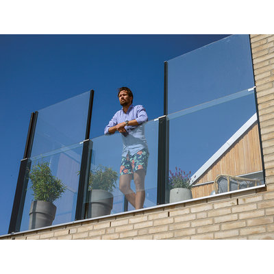 Click-it-up glazen balustrade