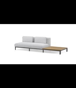 Jardinico Mauroo sofa zonder armleuning en met tableau/tafel