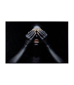 """PTMD Melani Glass Art  """"GOLD LIPS"""""""