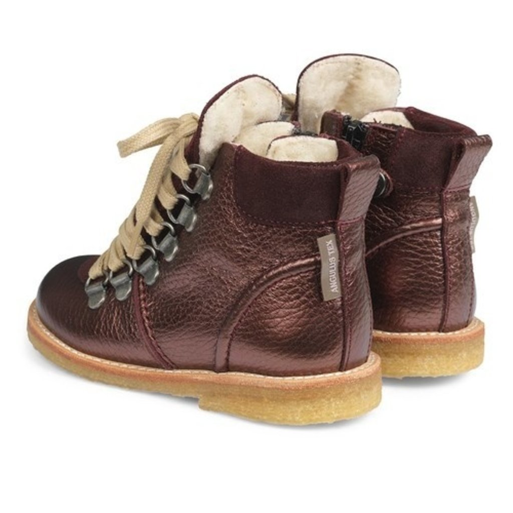 ANGULUS ANGULUS TEX BOOT LACE/ZIP I BORDEAUX