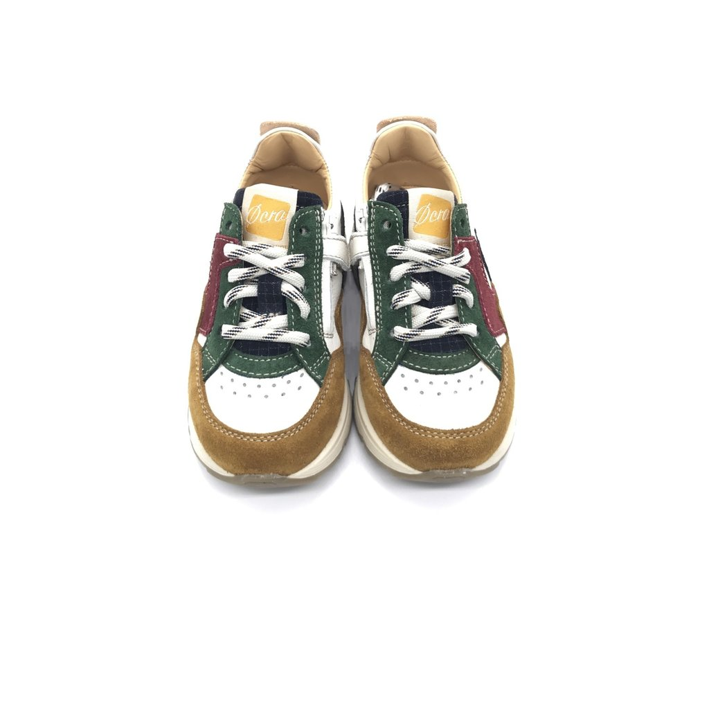 OCRA OCRA SNEAKER HIGH CAMEL BLUE GREEN