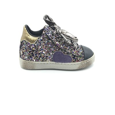 RONDINELLA RONDINELLA FIRST SNEAKER HEART PURPLE