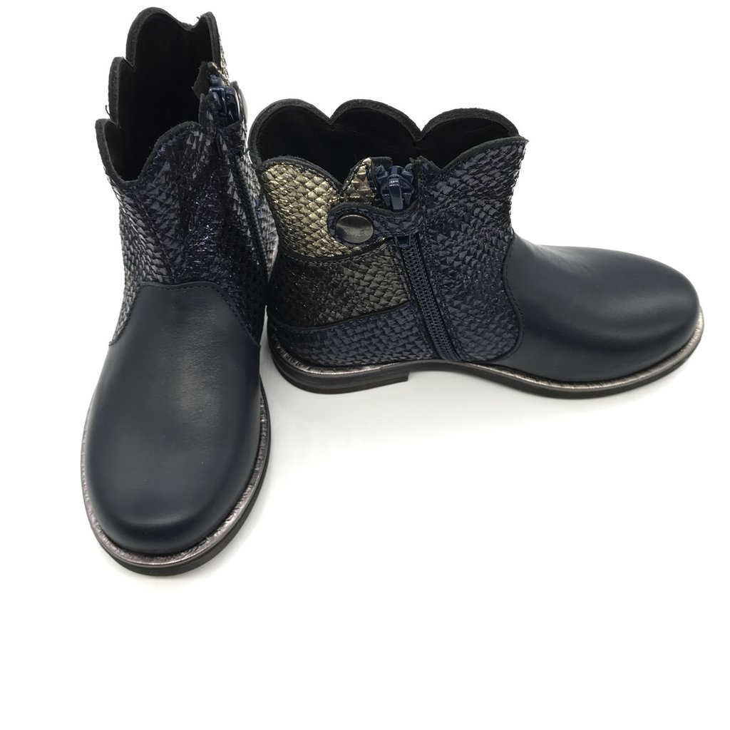 RONDINELLA RONDINELLA BOOT ANKLE FLOWER BLUE