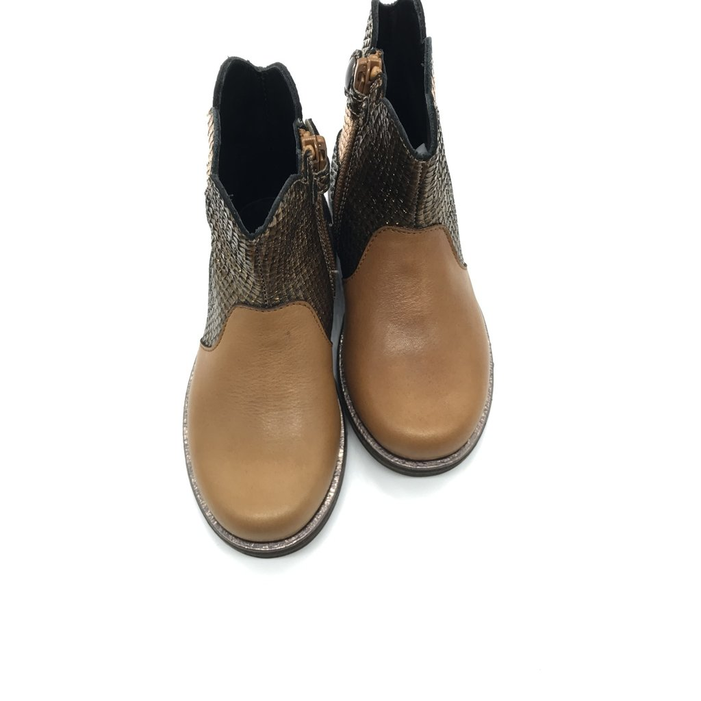 RONDINELLA RONDINELLA BOOT ANKLE FLOWER CAMEL