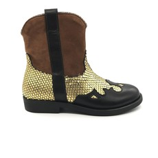 RONDINELLA RONDINELLA BOOT COWBOY CAMEL BLACK GOLD