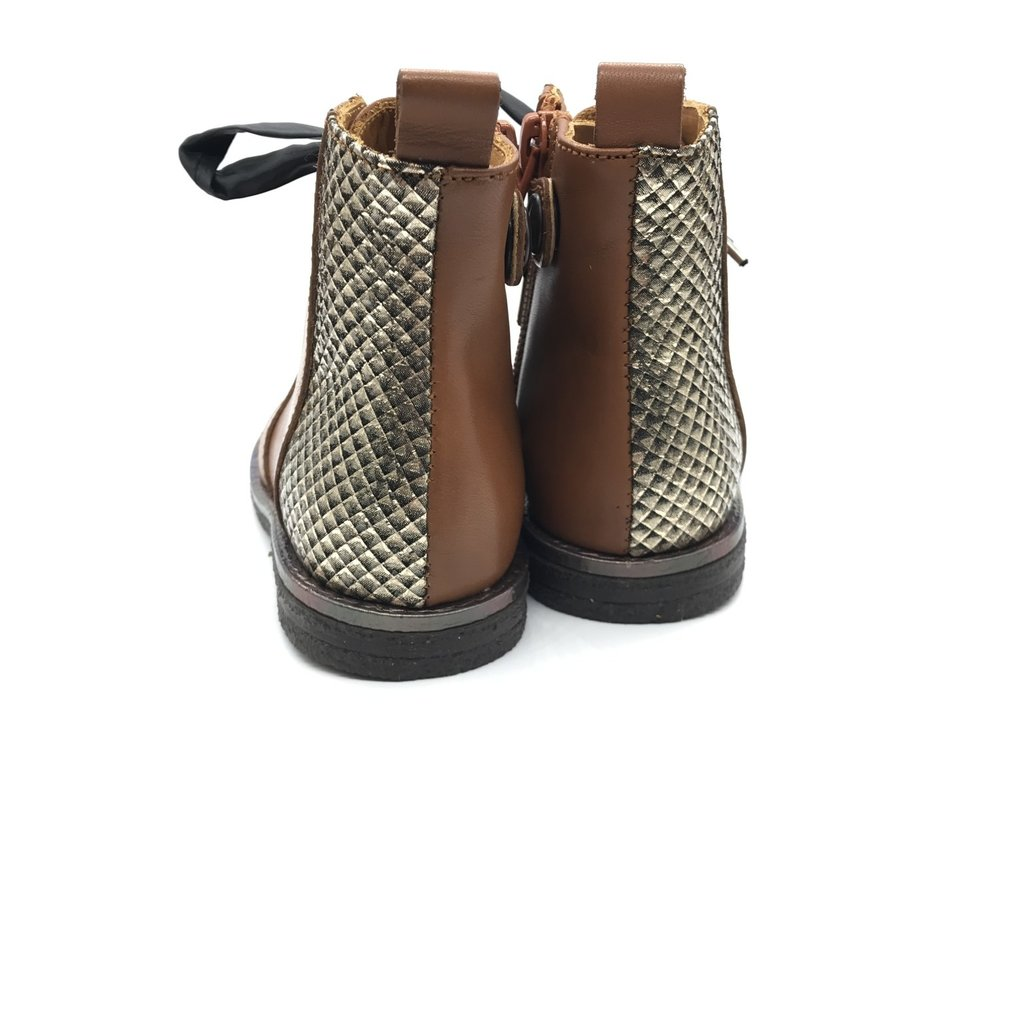 RONDINELLA RONDINELLA FIRST BOOT PYTHON CAMEL GOLD