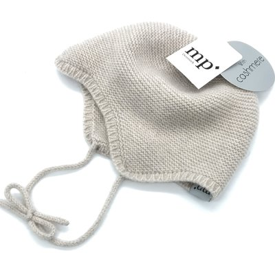 MP DENMARK MP CASSIDY BABY BONNET LIGHT BROWN MARLED